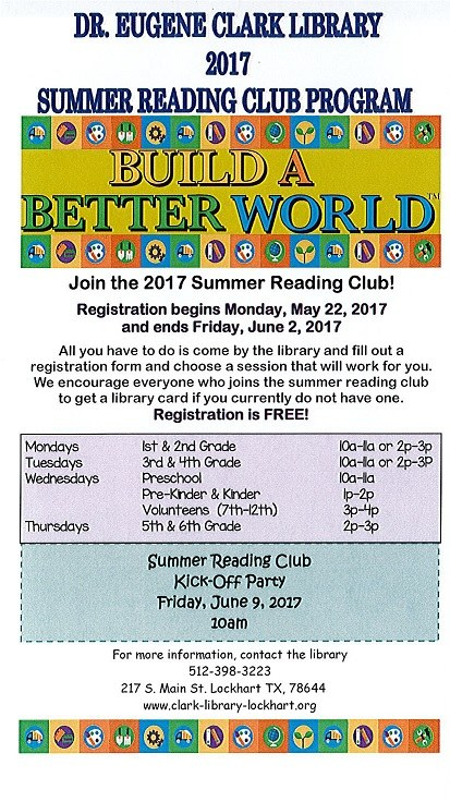 Summer Reading Club Flyer